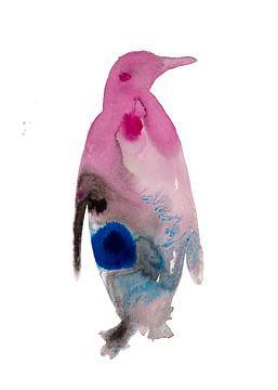 Spezielle abstrakte Vogelillustration des Pinguins von Angela Peters
