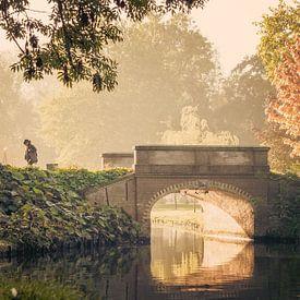 Herfstochtend in het Stadspark van Kampen van Gerrit Veldman