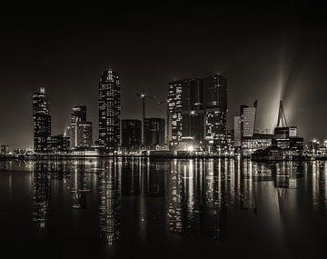 Rotterdam in Schwarz-Weiß von Rob Bout