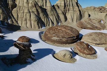 Ah-Shi-Sle-Pah Wilderness Study Area in de winter, New Mexico, USA van Frank Fichtmüller