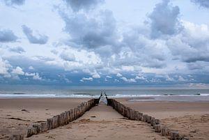 Strandmasten in Domburg von Jacqueline Lodder