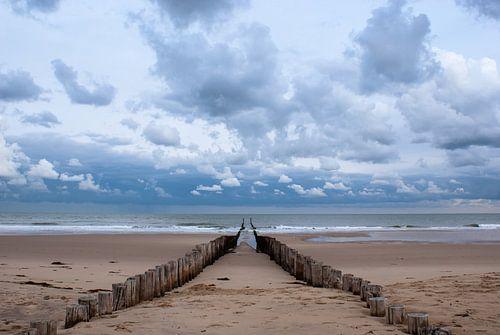 Strandpalen in Domburg van