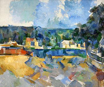 Paul Cézanne, am Ufer eines Flusses - 1905