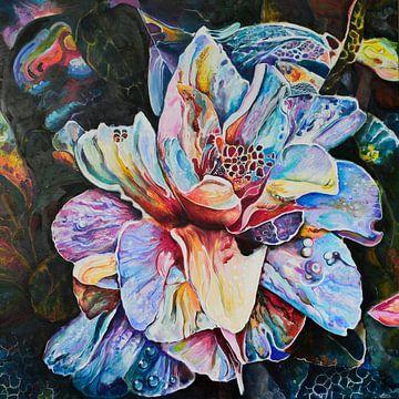"""fantasie bloem van Janny Schilderink......Atelier """"de Tuute """""""