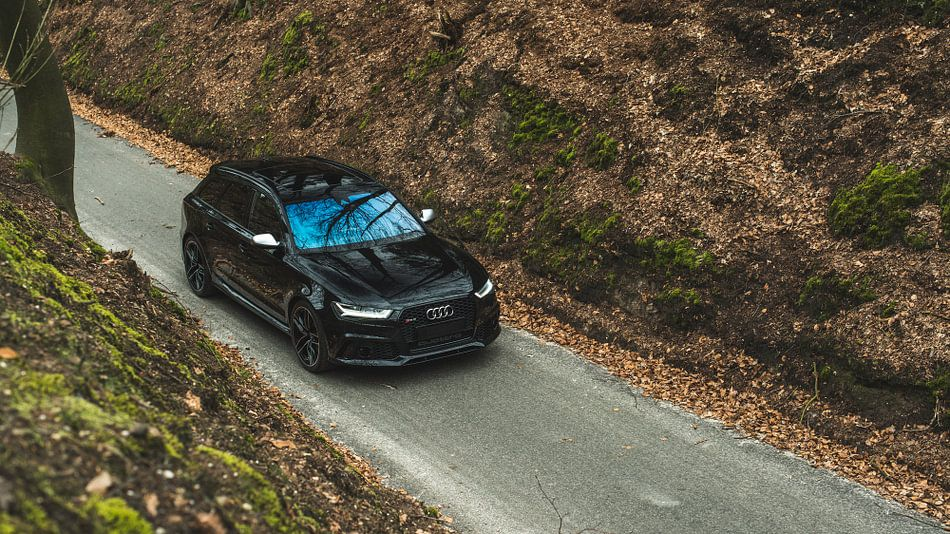Audi RS6 in het bos