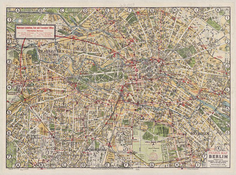 Berlin, Karte 1929 von Atelier Liesjes