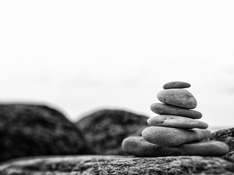 In balance, black and white