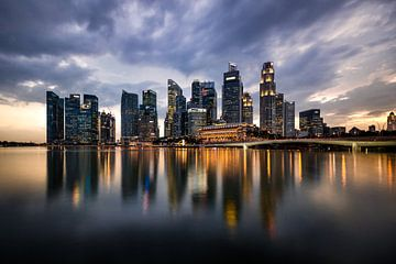 Singapore skyline van Maarten Mensink