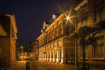 Altes Postamt IJsselstein bei Nacht von Tony Buijse