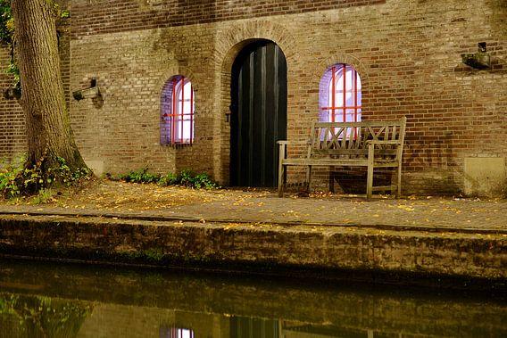 Werfkelder aan de Nieuwegracht in Utrecht  van Donker Utrecht