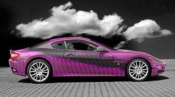 Maserati GranTurismo kunstauto in roze van aRi F. Huber
