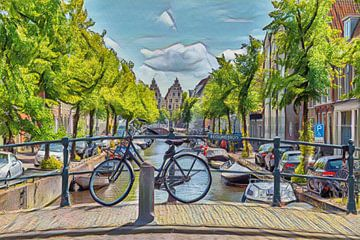 KLeurrijk Stadsgezicht Haarlem van Hilda Weges