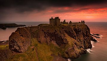 Dunnottar Castle Schotland van Peter Bolman