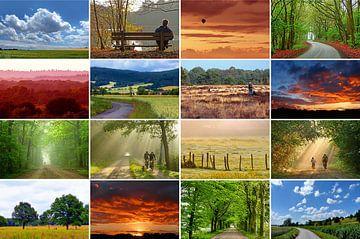Landerijen... (Landschap Collage) van Caroline Lichthart