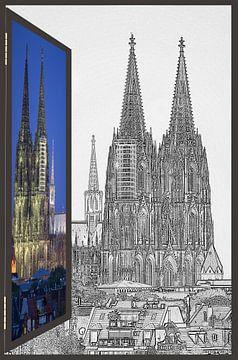 vensters naar dom#1 van Stefan Havadi-Nagy