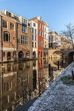 Oudegracht in Utrecht vanaf de werf bij de Maartensbrug (3) van De Utrechtse Grachten