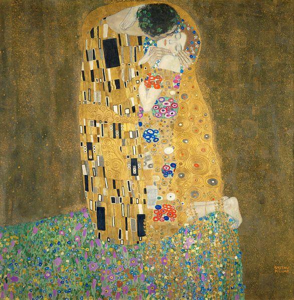 Der Kuss - Gustav Klimt von Rebel Ontwerp