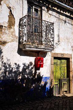 schaduwen bij oude deur van Sabrina Varao Carreiro