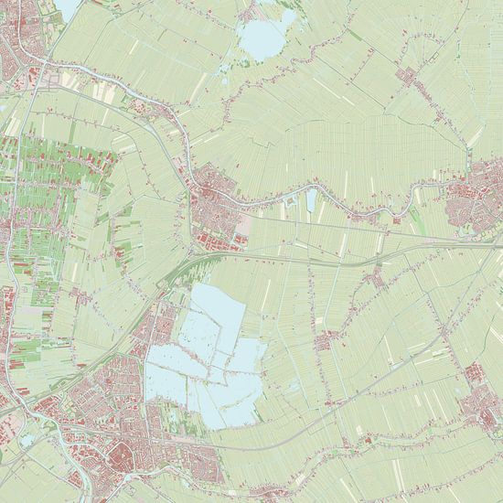 Kaart vanBodegraven-Reeuwijk van Rebel Ontwerp