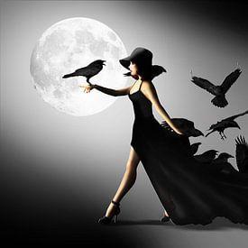 La femme avec les corbeaux sur Monika Jüngling
