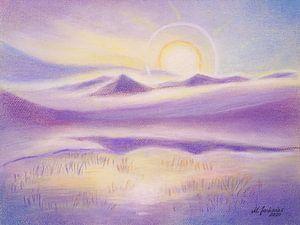Sonnenkorona und Wasserspielung im Gebirge von Marita Zacharias
