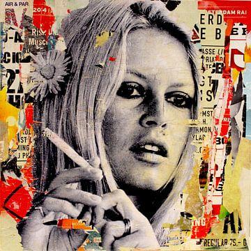 Brigitte Bardot ist Rauchen von Michiel Folkers