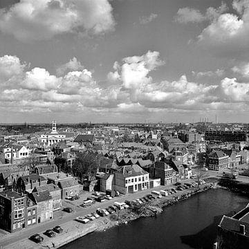 Dordrecht de oude stad vanuit de lucht van Dordrecht van Vroeger