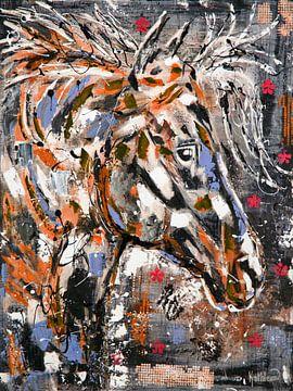 Horse Spirit Farben von Kathleen Artist Fine Art