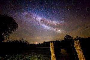 Melkweg in Nederland - Drents-Friese Wold National Park (drenthe Friesland) - Milky Way Nederland van Aaldrik Bakker