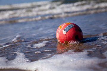 De bal en haar kleuren in zee von Willy Sybesma