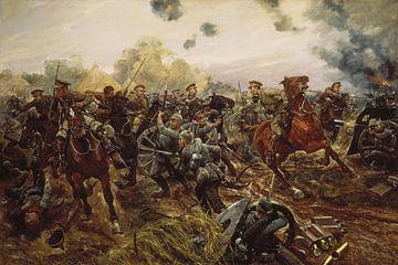Richard Caton Woodville jr., Slag bij Bergen (BE) in Audregnies, 24 augustus 1914 van Atelier Liesjes