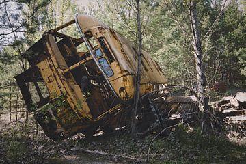 De school bus van Perry Wiertz
