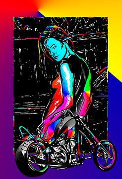 motorfiets 3-Moto Bike 3-Motorrad 3 van