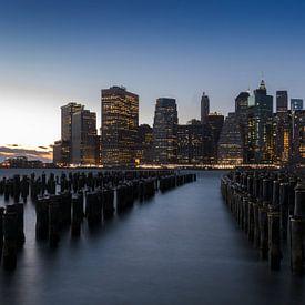 Manhattan au coucher du soleil sur Alexander Schulz