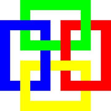 Onder en boven | Permutatie | ID=11 | V=19 | 4xO | P #01-W van Gerhard Haberern