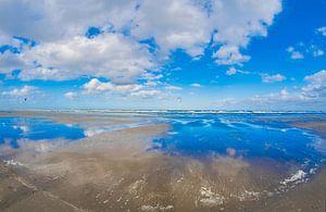Strand Ameland in de herfst van