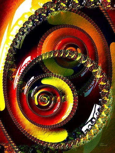 Fractal Swirl Portrait Format