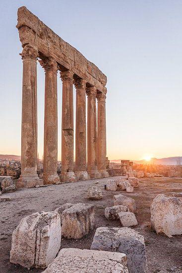 Romeinse Tempel van Jupiter - Baalbek, Libanon van Bart van Eijden
