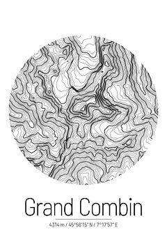 Grand Combin | Topographie de la carte (minimum) sur City Maps