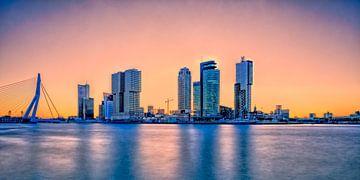 zonsopkomst Skyline van Rotterdam