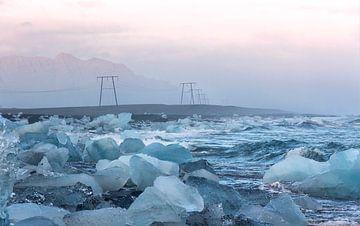 Het strand van ijs van Nathan Marcusse