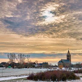 Dorp Oosterland Wieringen in de winter van eric van der eijk