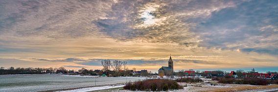 Dorp Oosterland Wieringen in de winter