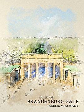 Brandenburger Tor van Printed Artings