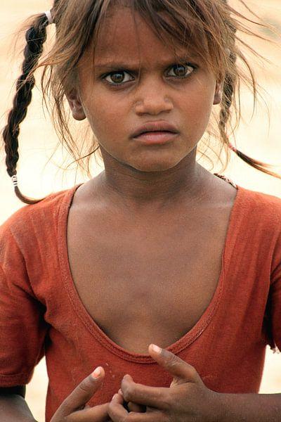 Thar Desert Girl van Gert-Jan Siesling