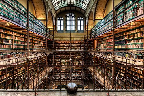Bibliotheek Rijksmuseum Amsterdam symmetrie