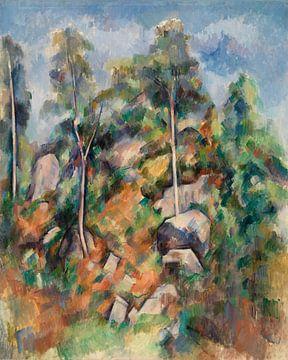 Felsen und Bäume, Paul Cézanne (ca.1904) von Atelier Liesjes