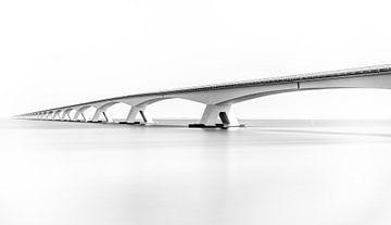 Zeelandbrug in Zwart Wit van Mario Calma