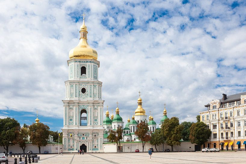 Sophia plein in Kiev Oekraïne van Bart van Eijden
