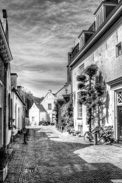 Herlevend verleden, Muurhuizen historisch Amersfoort, zwartwit van Watze D. de Haan
